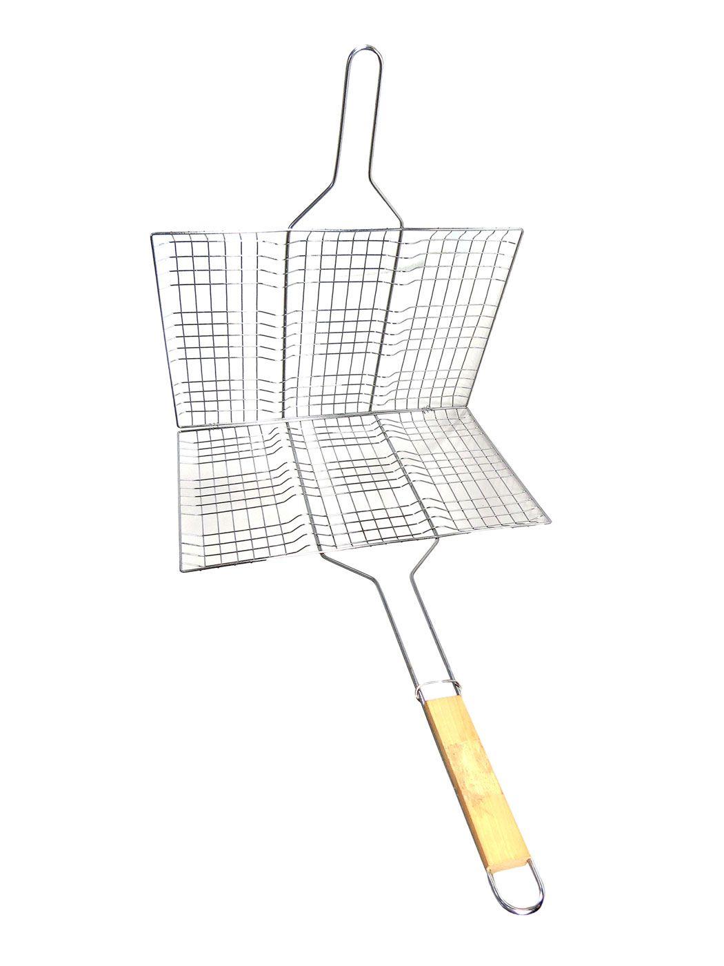 Grelha Dupla Para Churrasco Churrasqueira 43 X 30cm