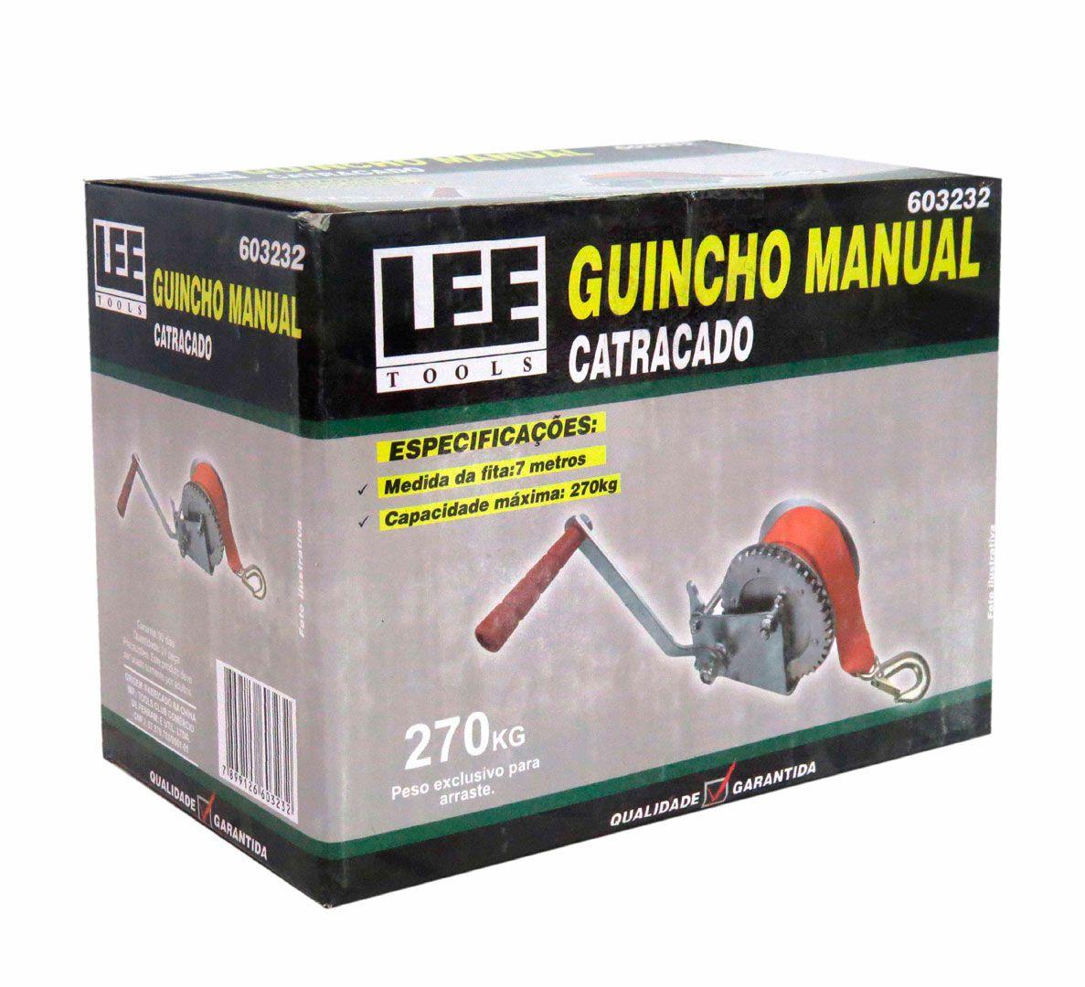 Guincho Manual 270kg Catracado De Arraste Com Fita Reboque