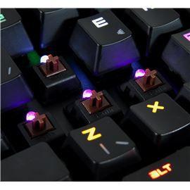 Hawkon Taita Teclado Gamer Mecânico Iluminado Switch Marrom