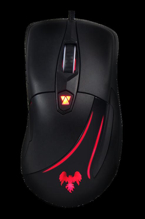 Hawkon Vesper Mouse Gamer Usb Led Óptico 5000dpi 6 Botões OUTLINE