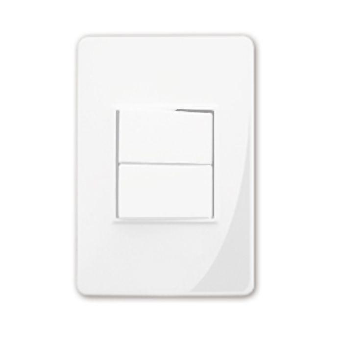 Interruptor Duplo Com Placa Branca F.C Cód.11-0034