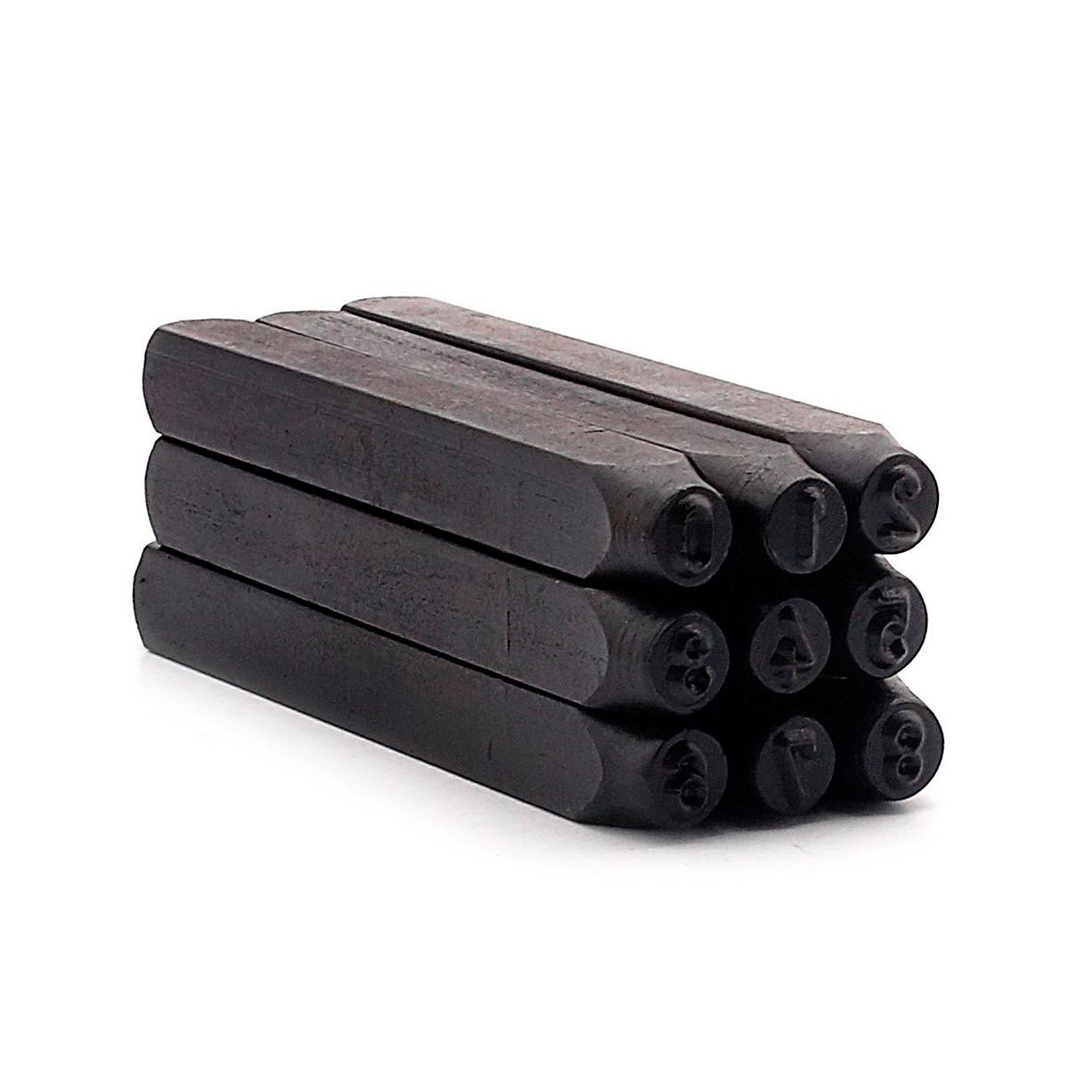 Jogo Algarismo Para Marcação De Aço 4mm 9 Peças Eda