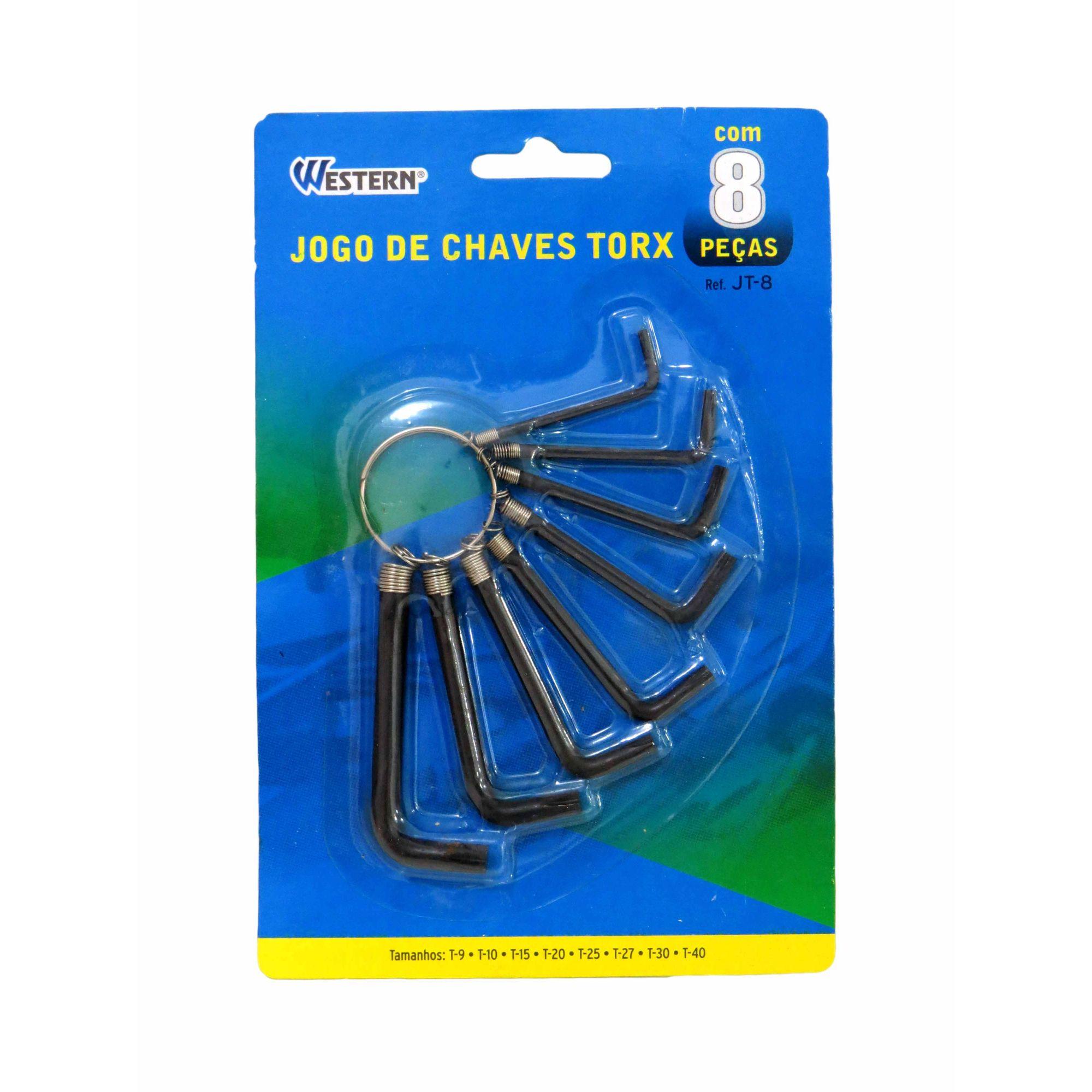 Jogo Kit De Chave Torx Com 8 Peças Western
