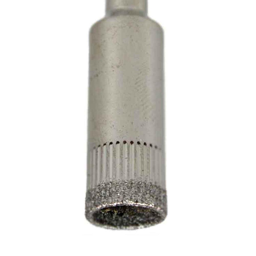 Jogo Com 10 Serras Copo Diamantada Para Vidro E Mármore 12mm