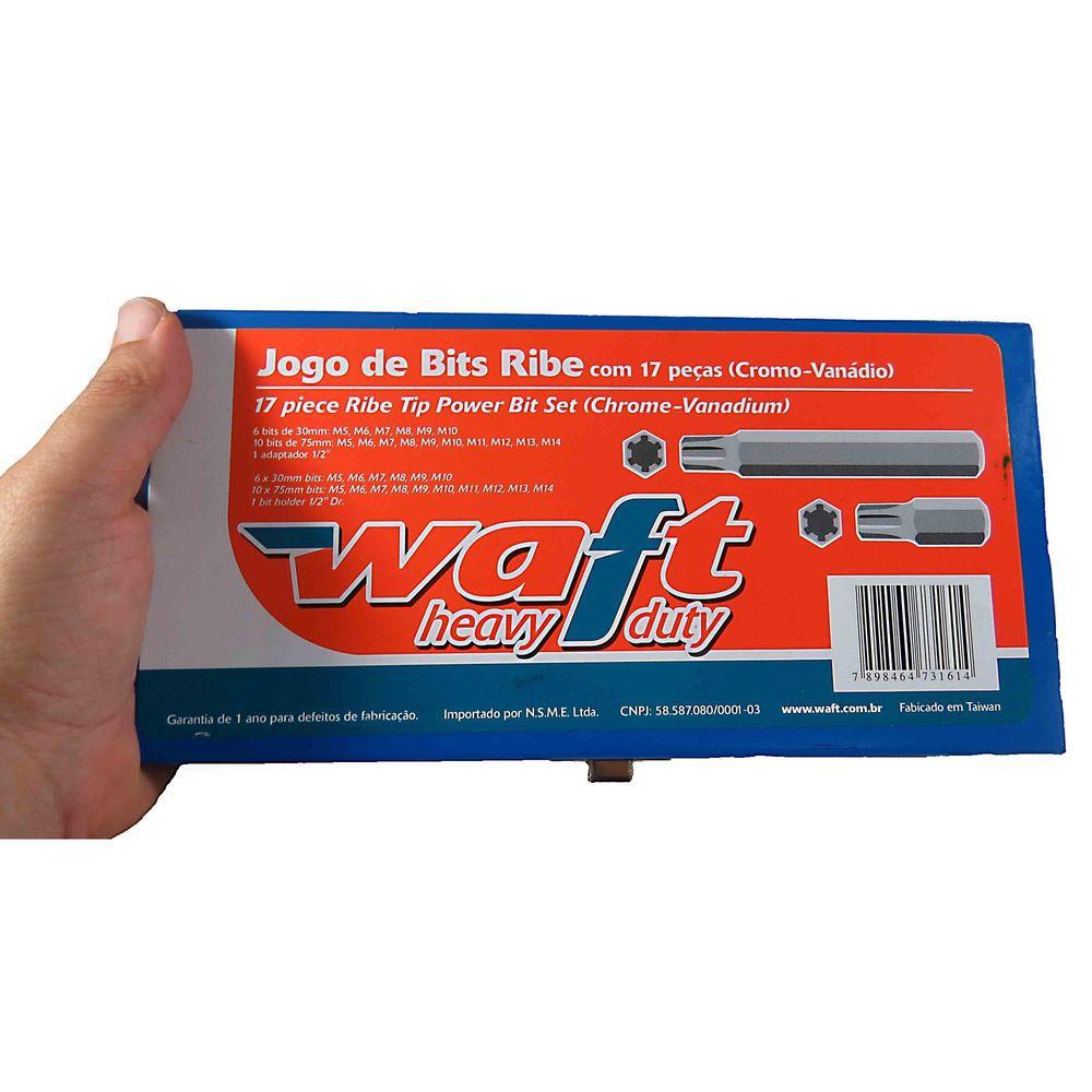 Jogo De Bits Ribe Com 17 Peças (cromo Vanádio) Waft