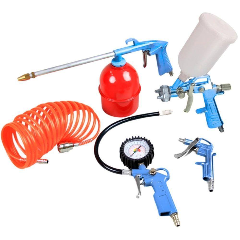 Jogo Kit Acessórios Para Compressor De Ar 5 Peças Gamma