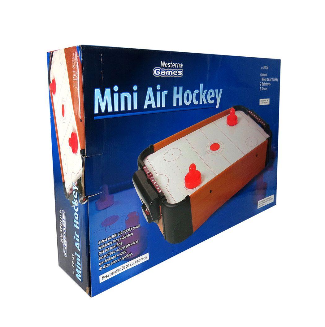 Mini Air Hockey Á Pilha Game Jogo De Mesa Portátil
