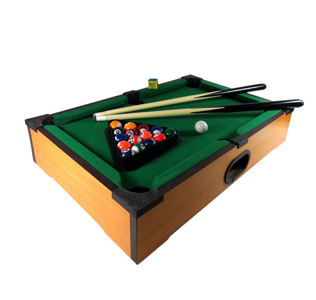 Jogo Mini Bilhar Sinuca Games Snooker De Madeira Portátil
