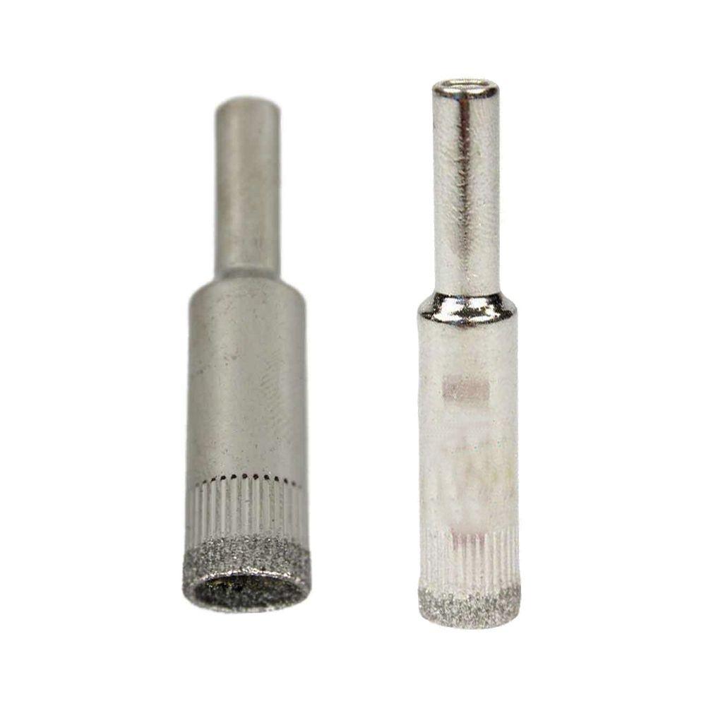 Jogo Serras Copo Diamantada Para Vidro e Mármore 10 e 12mm