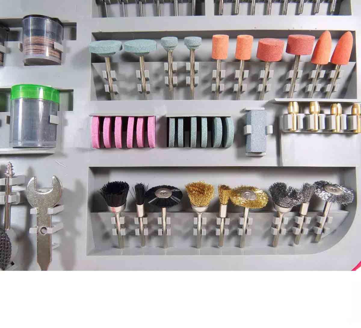 Kit Acessórios Para Mini Retífica Micro Jogo 250 Peças