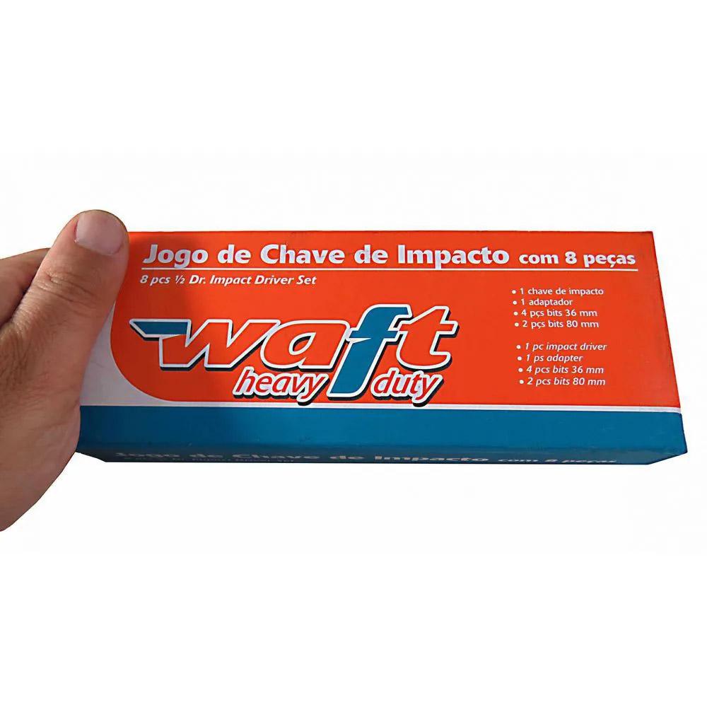 Kit Chave Manual de Impacto 1/2 Pol Profissional c/ 8 Peças Cr-v