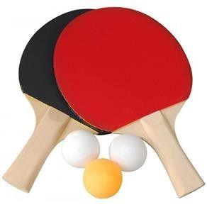 Kit Conjunto Ping Pong Tênis De Mesa Raquetes Bolinhas Rede