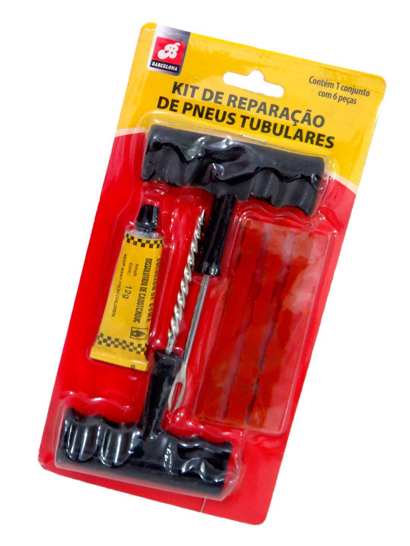 Kit De Reparo Reparação De Pneus Tubulares 6 Peças