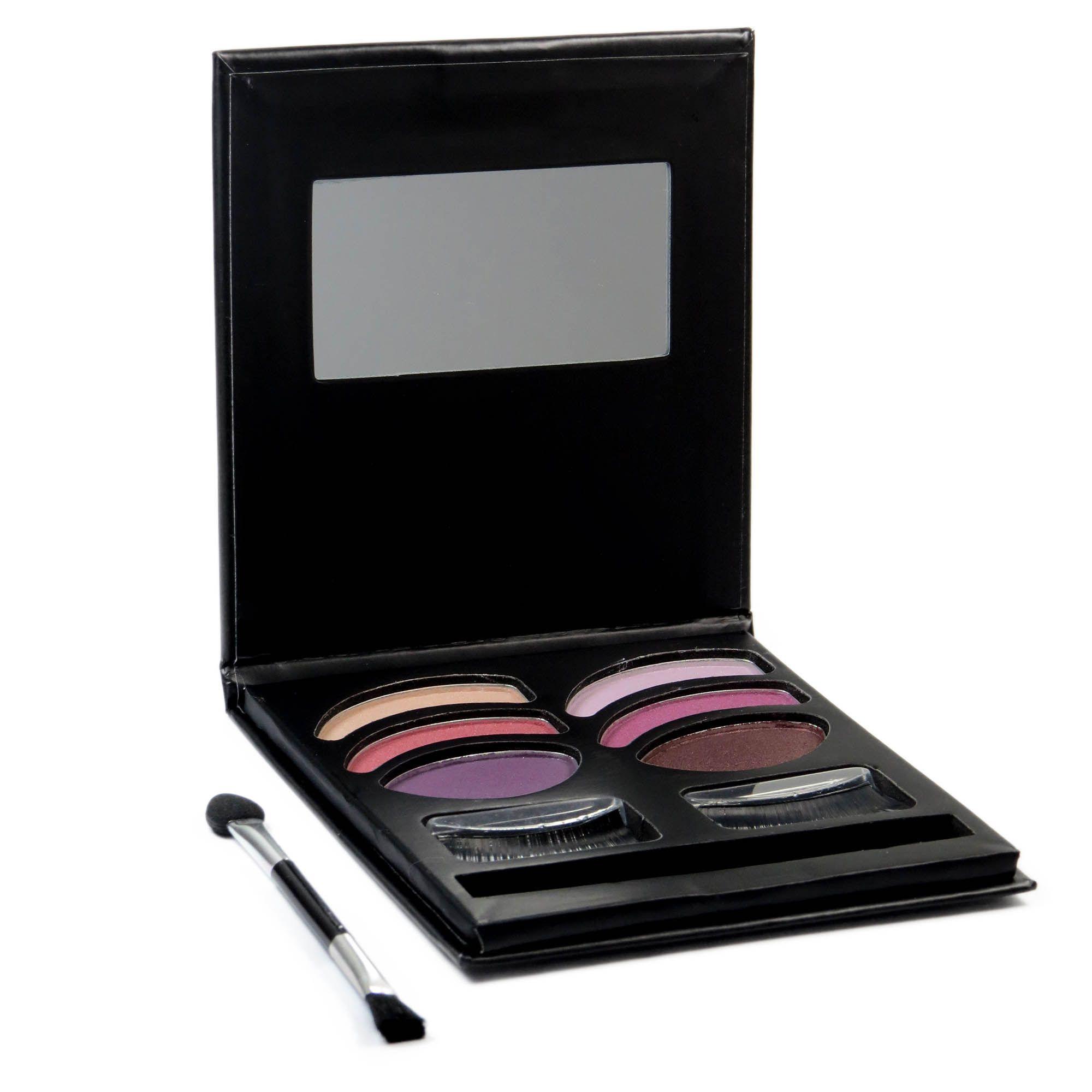 Kit De Sombras E Cílios Postiços Maquiagem Com Pincel