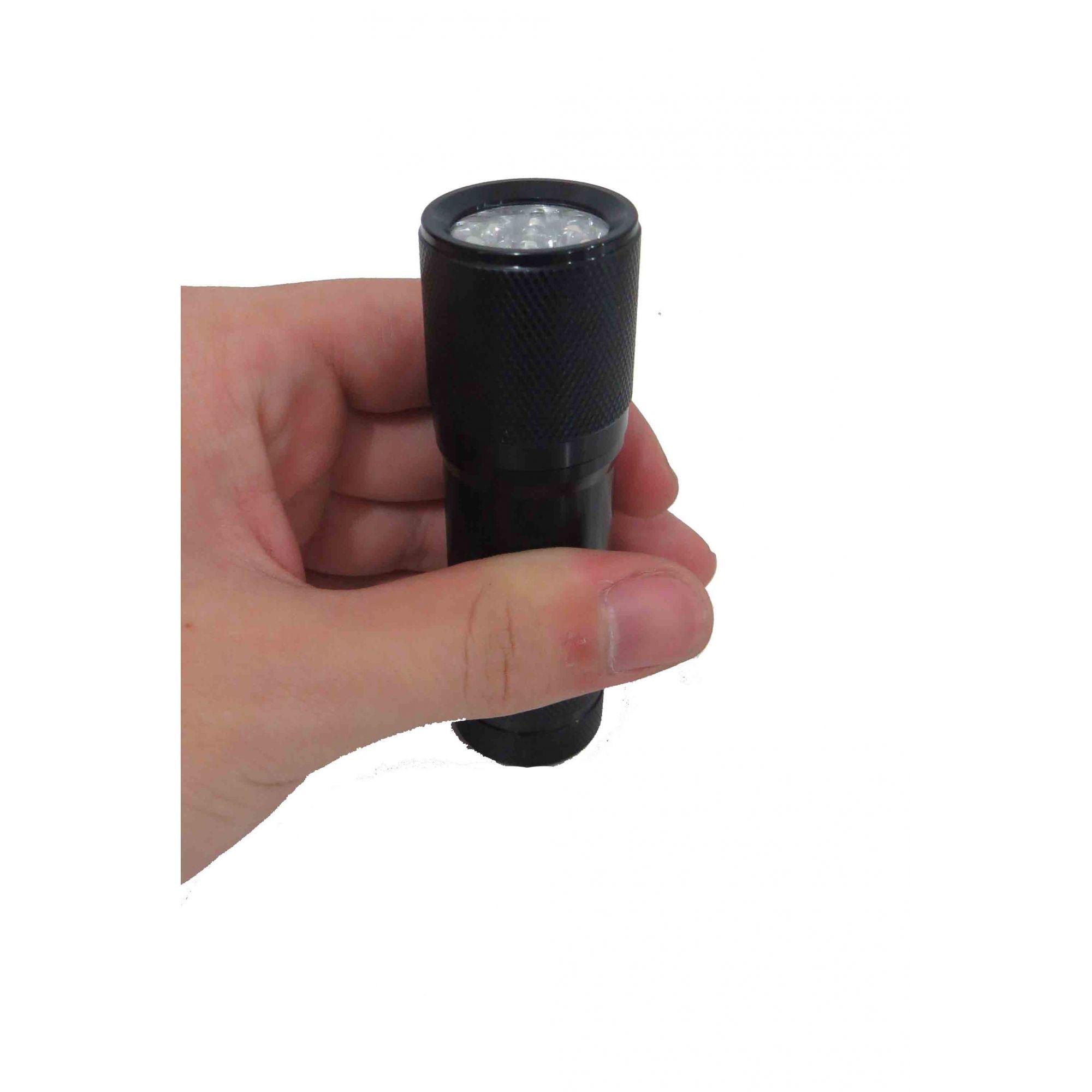 Lanterna De Alumínio 9 Leds Com Alça