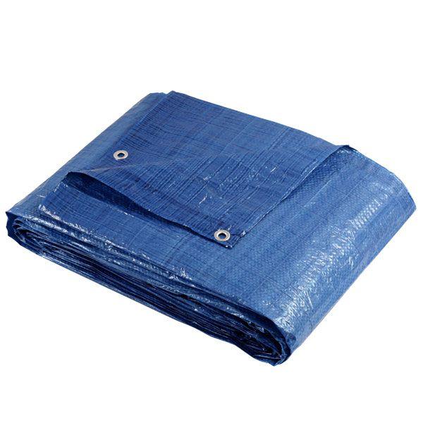 Lona Azul Fina Encerado de Polietileno 5mx4m 100Gsm Brasfort