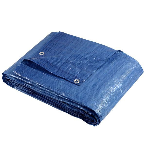 Lona Azul Fina Encerado de Polietileno 7mx5m 100Gsm Brasfort