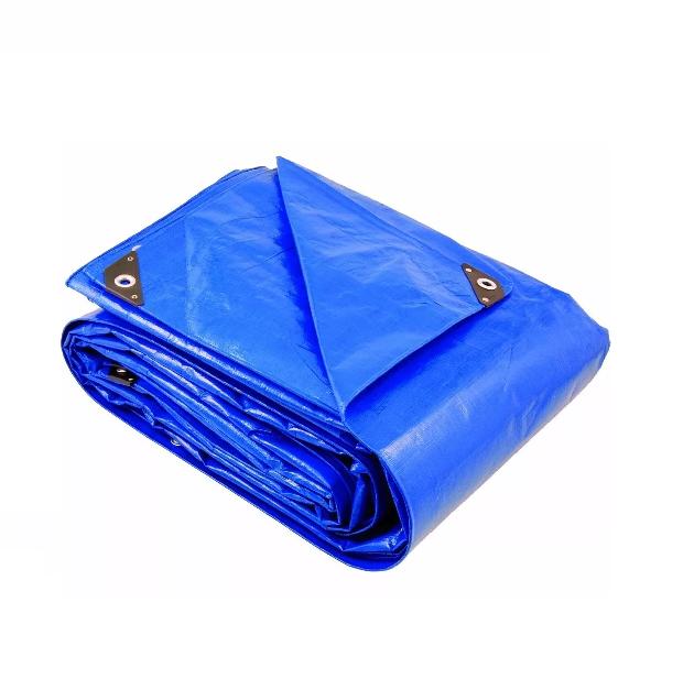 Lona Azul Fina Encerado de Polietileno 8mx7m 100Gsm Brasfort OUTLINE