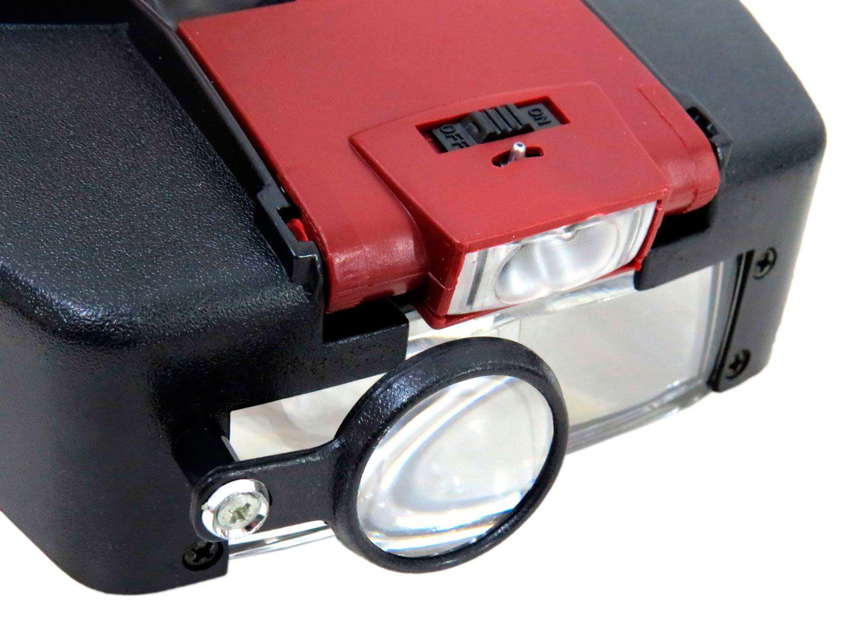 Lupa De Cabeça Com Led E 3 Lentes + 2 Baterias Lee Tools