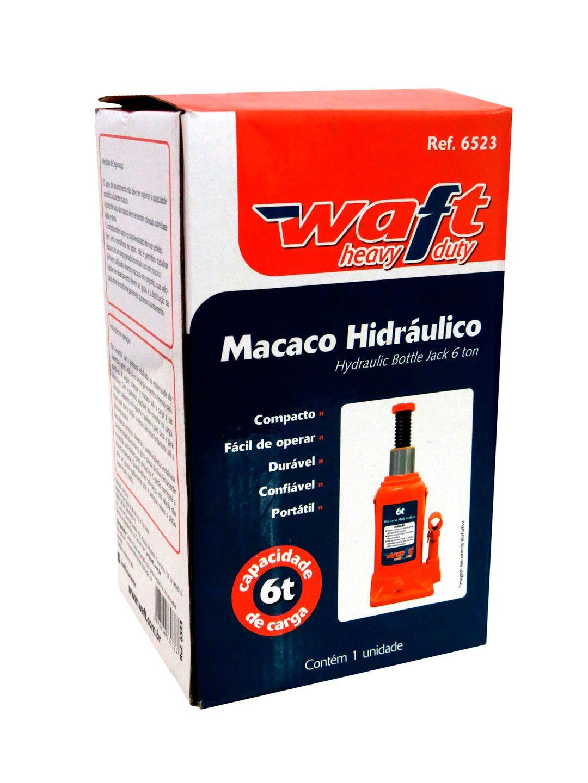 Macaco Tipo Garrafa 6 Toneladas Hidráulico Portátil Waft
