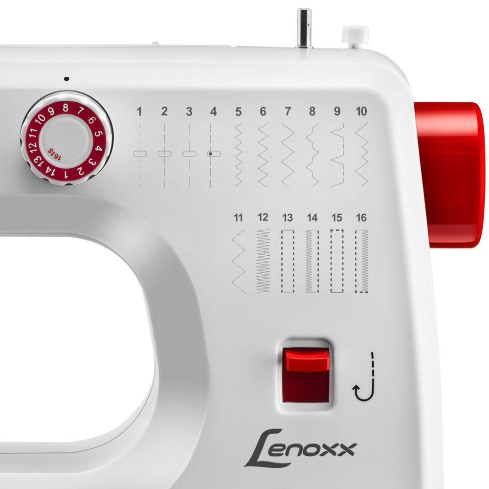 Máquina de Costura Master Pro 16 Pontos Pedal de Velocidade Bivolt Lenoxx