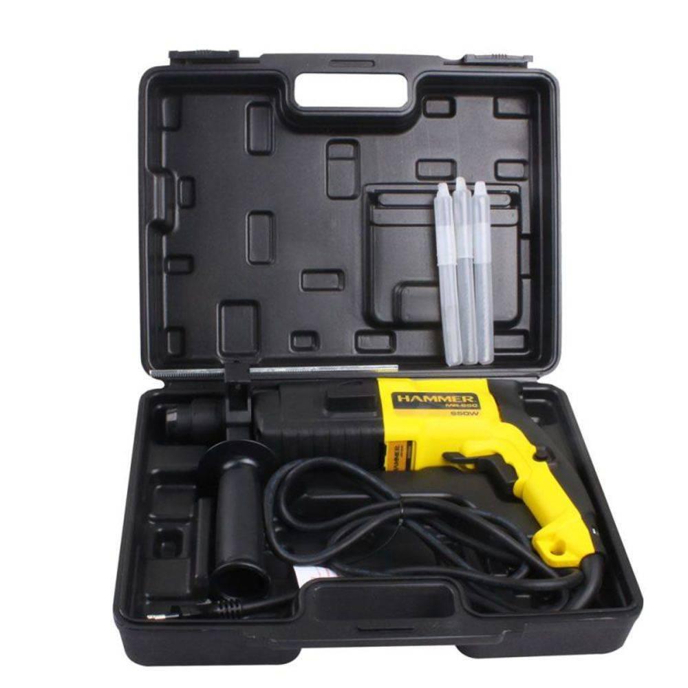 Martelete Perfurador Rotativo 650w Com 5 Acessórios Sds Plus 850RPM 127V Hammer