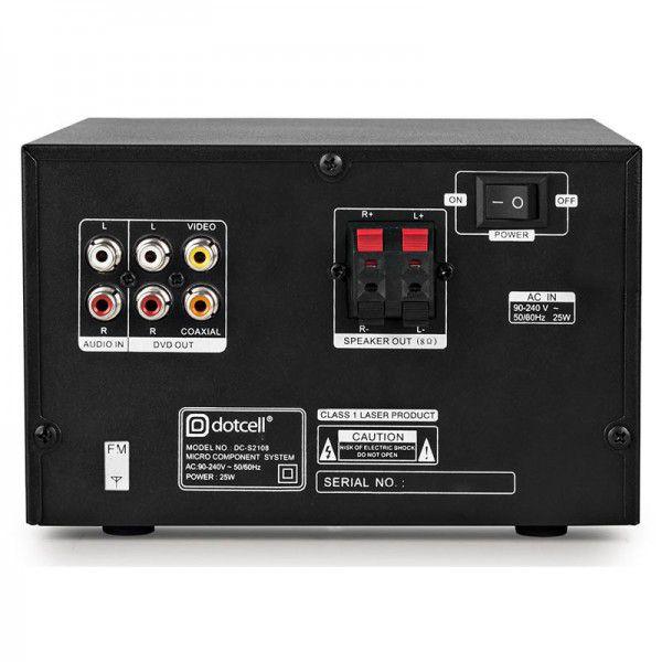 Micro System Sistema Multimídia HI-FI 2.0 CH Preto Dotcell