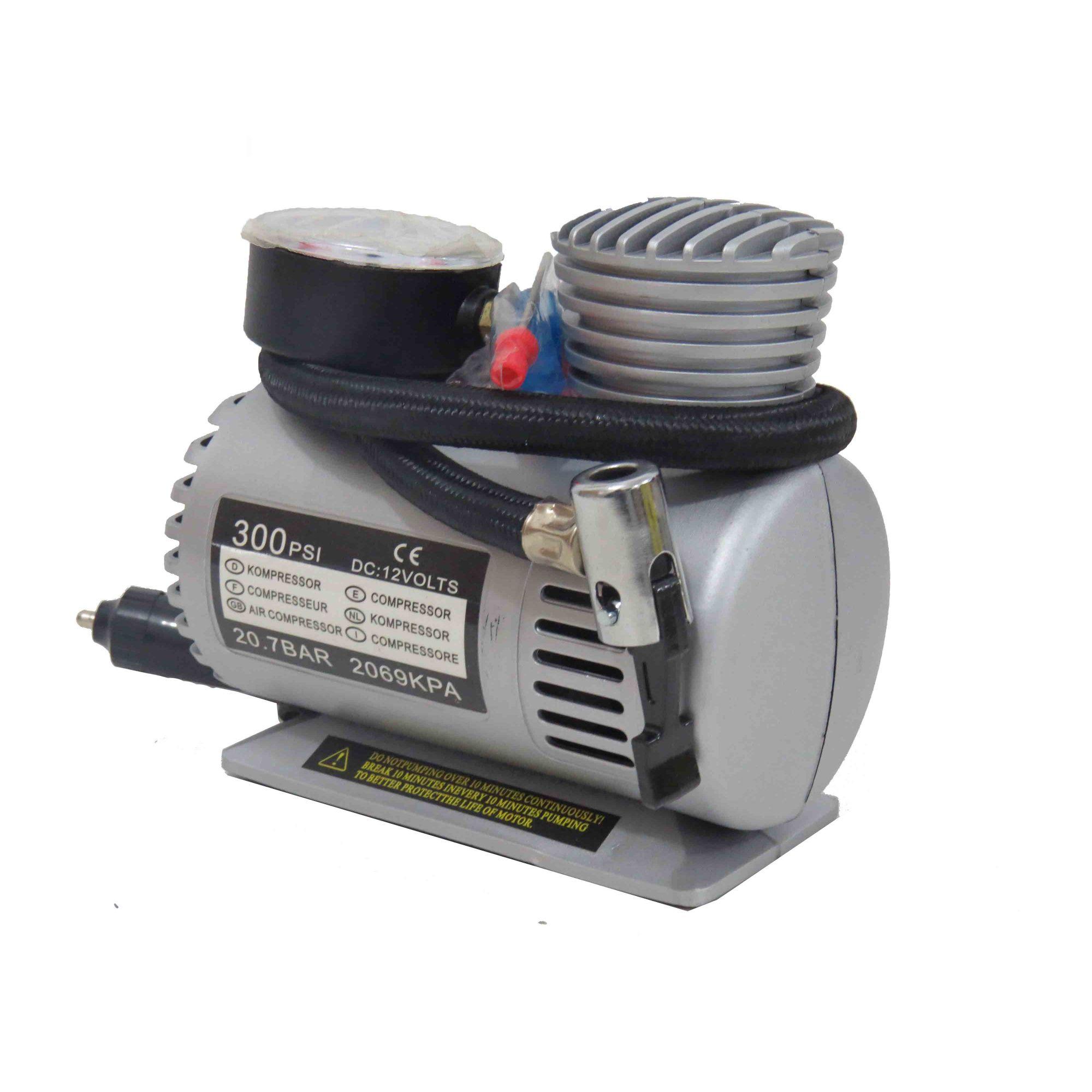 Mini Compressor De Ar P/ Automóveis 300psi 12v