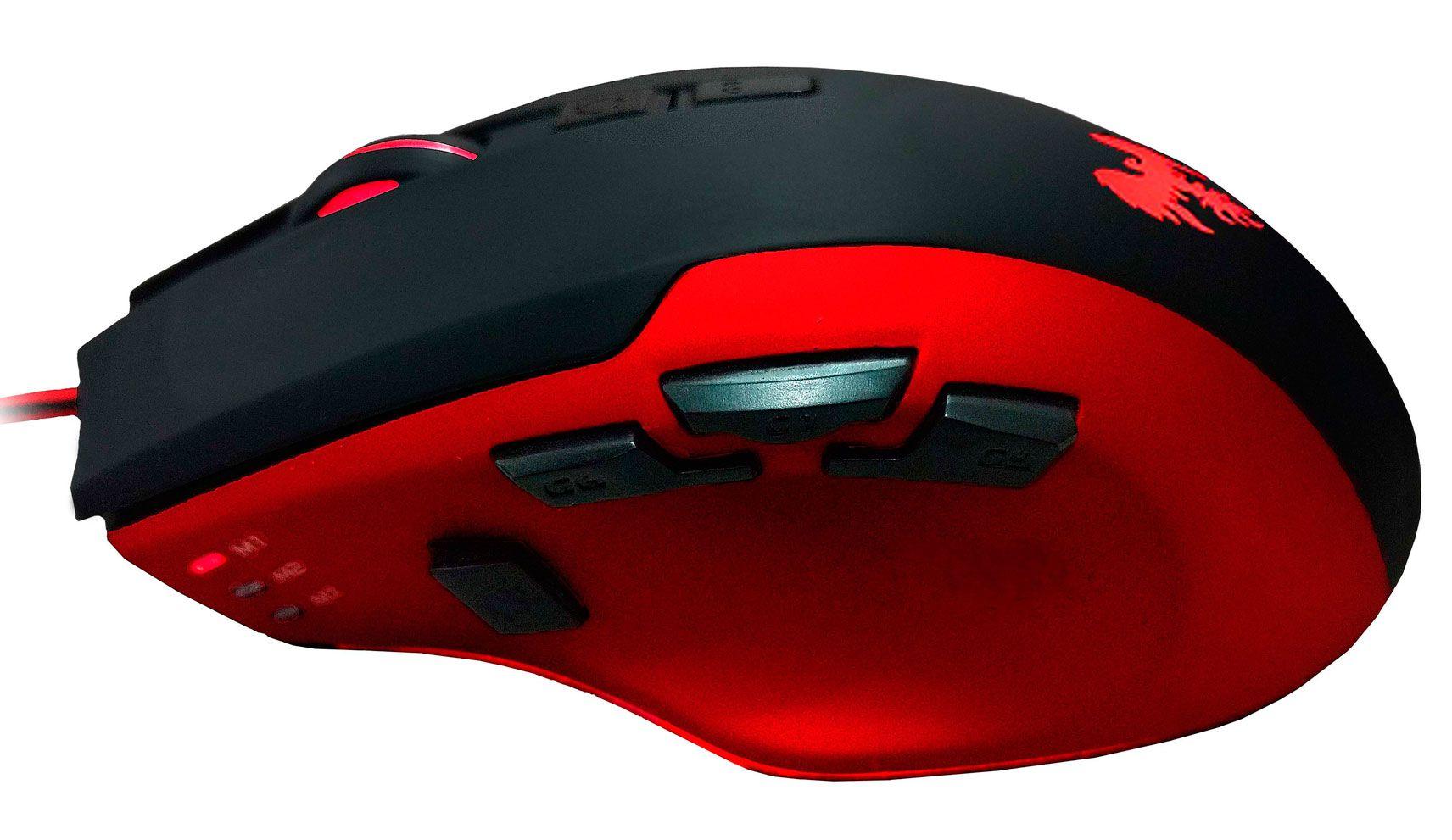 Mouse Gamer 4000 Dpi 9 Botões Macro Led Hawkon Severus