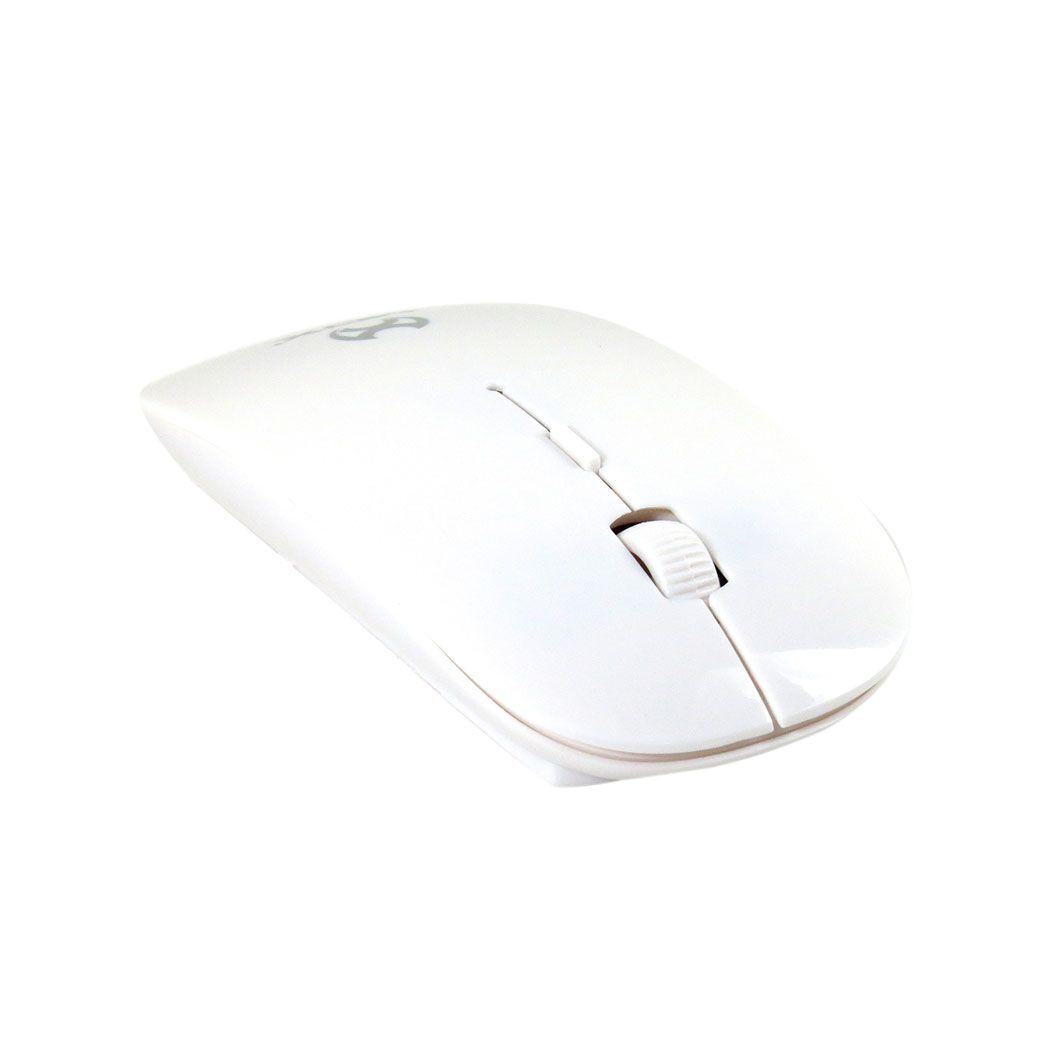 Mouse Sem Fio Usb Notebook Pc Branco 1600 Dpi Mox