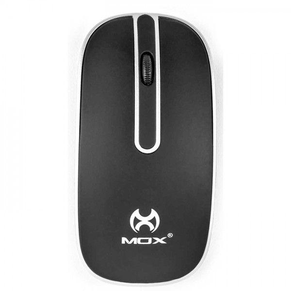 Mouse Sem Fio Notebook Pc Preto 1200 Dpi Usb 2.4 GHZ Mox