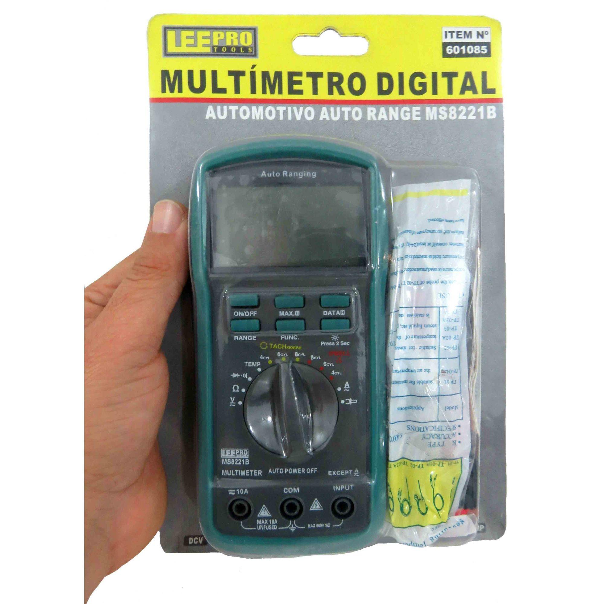 Multímetro Auto Range Digital Automotivo(E)
