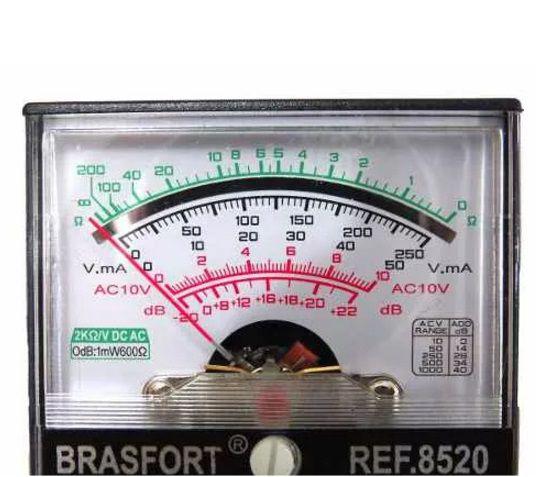 Multímetro Com Visor Analógico A Pilha Brasfort