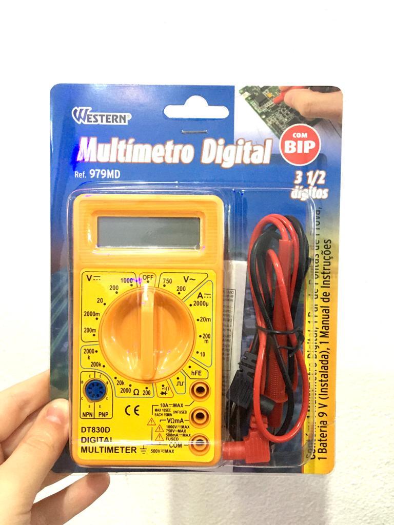 Multímetro Digital Profissional Com Bip 3 1/2 Dígi