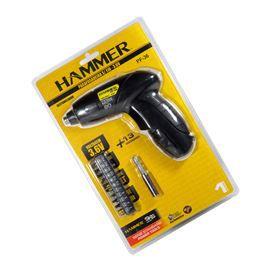 Parafusadeira Sem Fio 3.6 + 13 Acessórios Bivolt Hammer