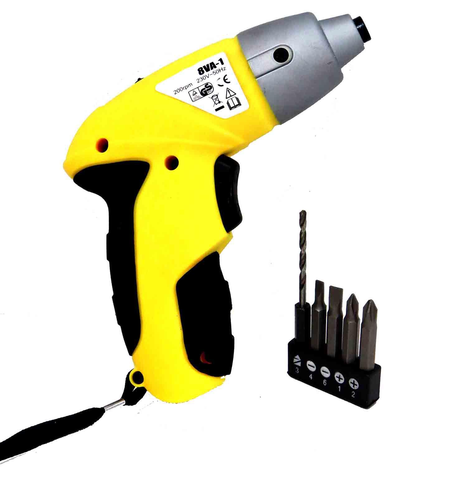 Parafusadeira Sem Fio 6 Peças Com Lanterna E Bits Bivolt