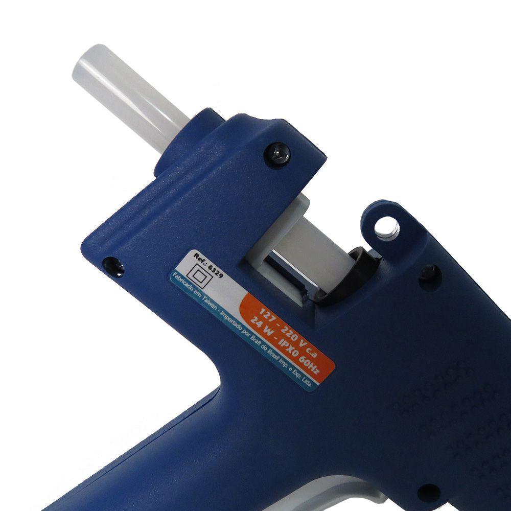 Pistola de Cola Quente Aplicador 24W Bastão Bivolt Silicone OUTLINE