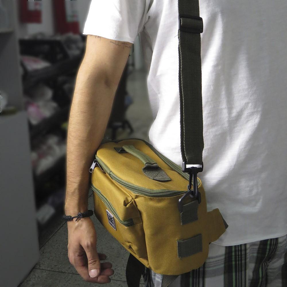 Pochete Cinturão Multifunção Ferramentas 9 Bolsos com Alça