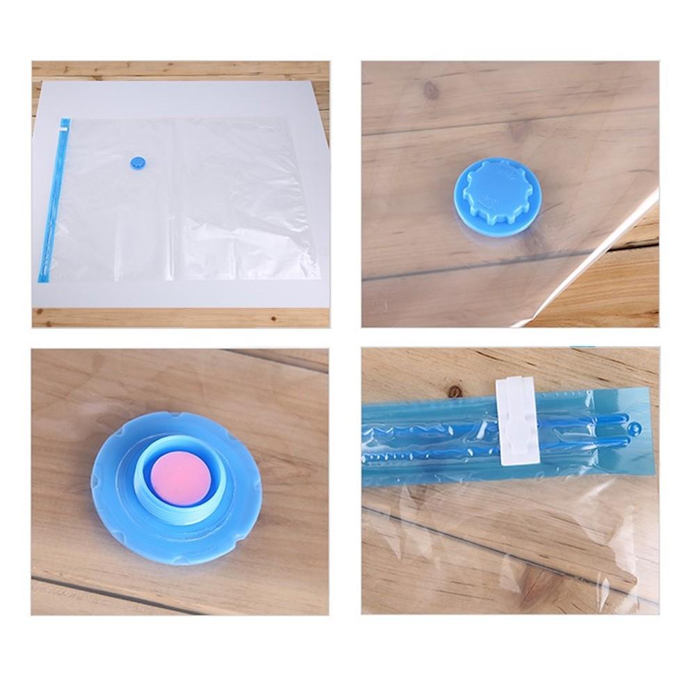 Saco A Vácuo Roupa Viagem 80 x 100cm Reutilizável Hermético