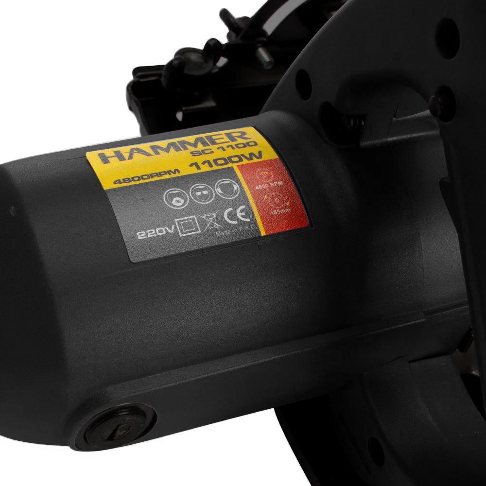 Serra 7.1/4 Pol Rolamentada Circular 127V 1100w Com Ajuste de Corte