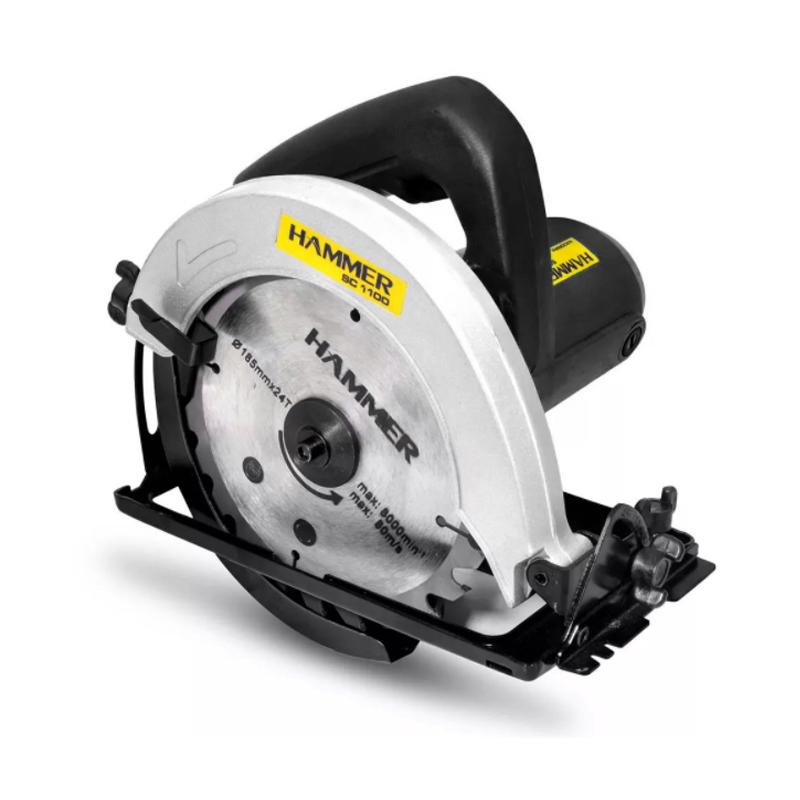 Serra Circular Elétrica Para Madeira Hammer 7 1/4 Pol 1100W 127v