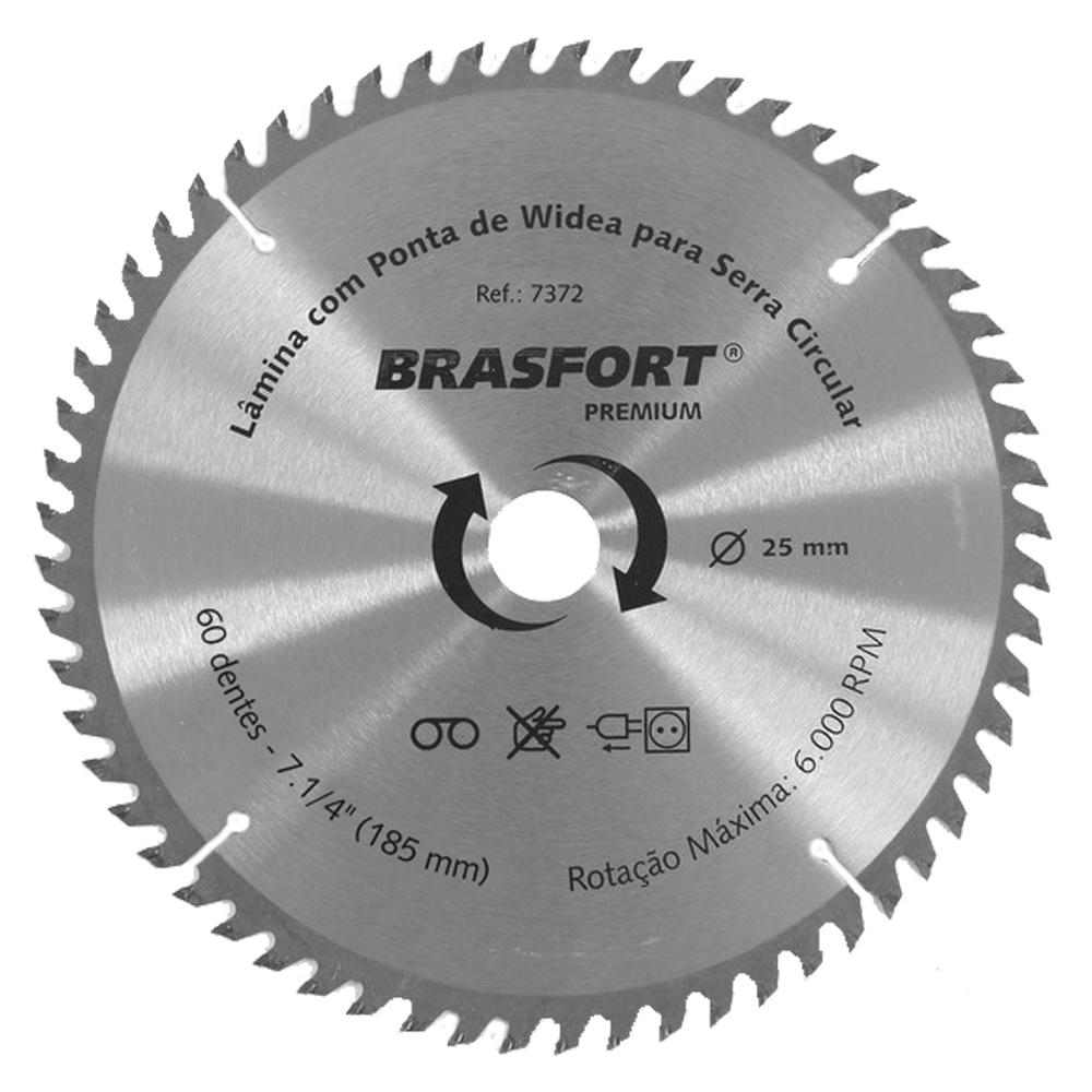 Serra Circular Lamina Widea 7.1/4 Pol 60 Dentes Brasfort