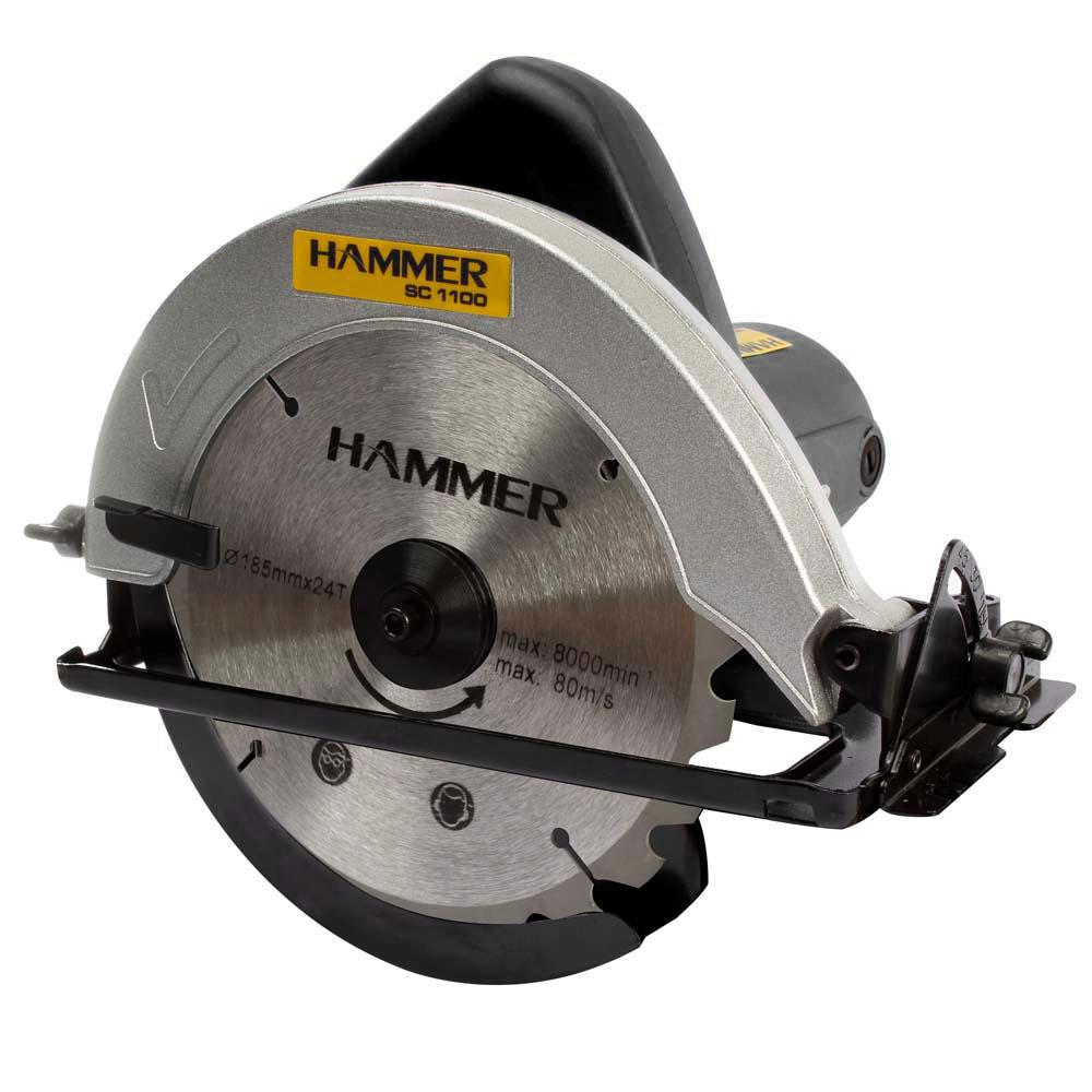 Serra Para Madeira 7.1/4 Pol Circular Hammer 1100W 127V Rolamentada