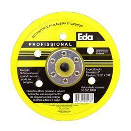 Suporte Disco Rígido Para Lixadeira 6 Pol. Com Furos Roto Orbital Roquite Hookit 6 Prato