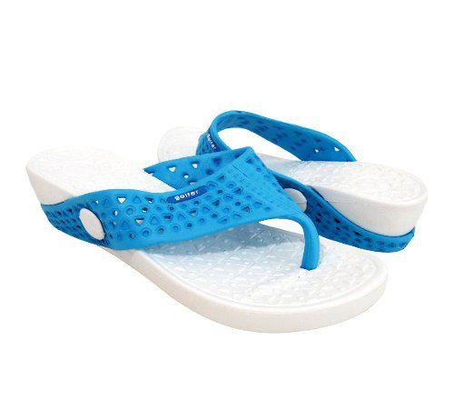Tamanco Sandália Lilly Feminino Branco Preto Lilás Coral - Branco-Azul Celeste - 35