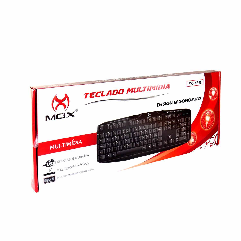 Teclado Multimídia Com Teclas Onduladas Preto Computador USB
