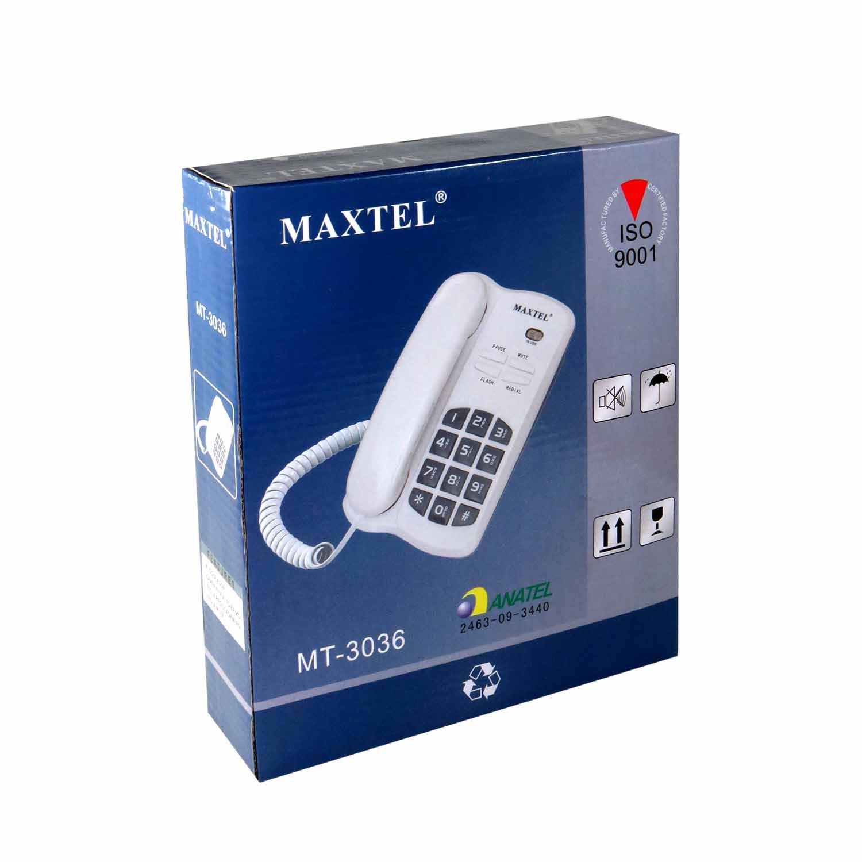 Telefone Com Fio Mesa Maxtel Com Tecla Rediscagem