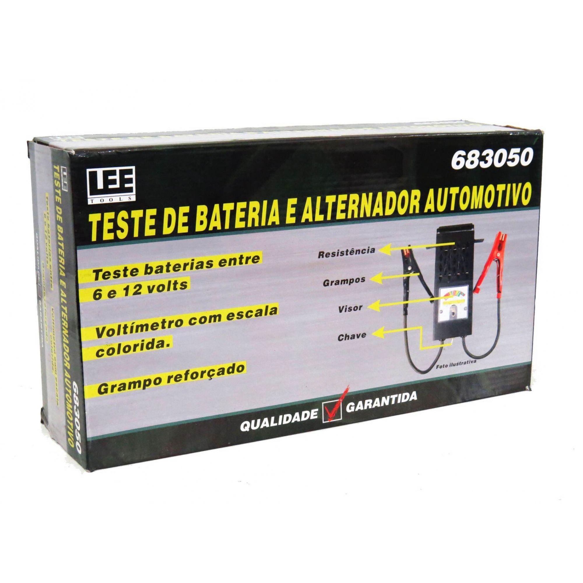 Teste De Bateria E Alternador Automotivo Carro De 6v E 12v