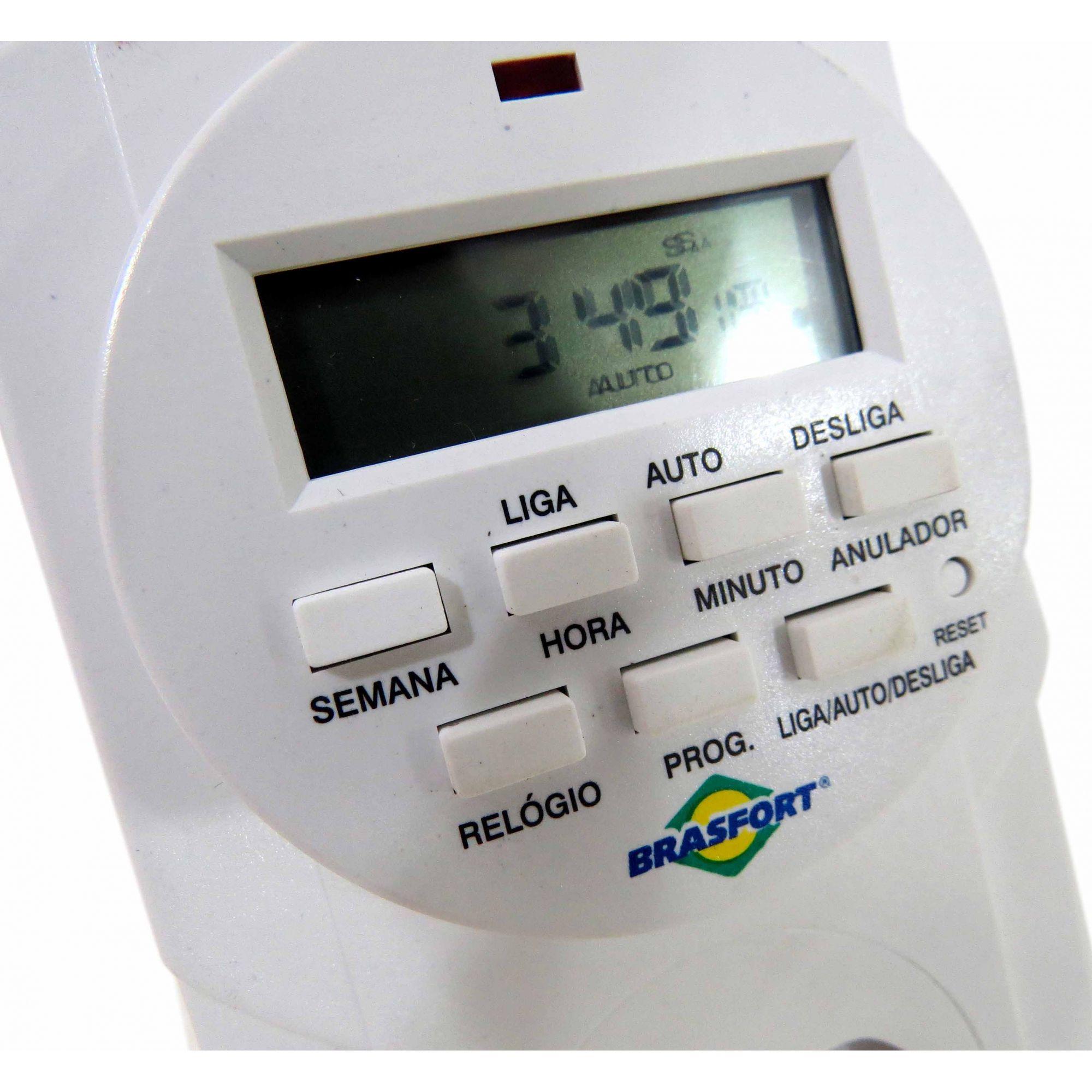 Timer Temporizador Digital Bivolt 8 Prog/dia Liga E Desliga