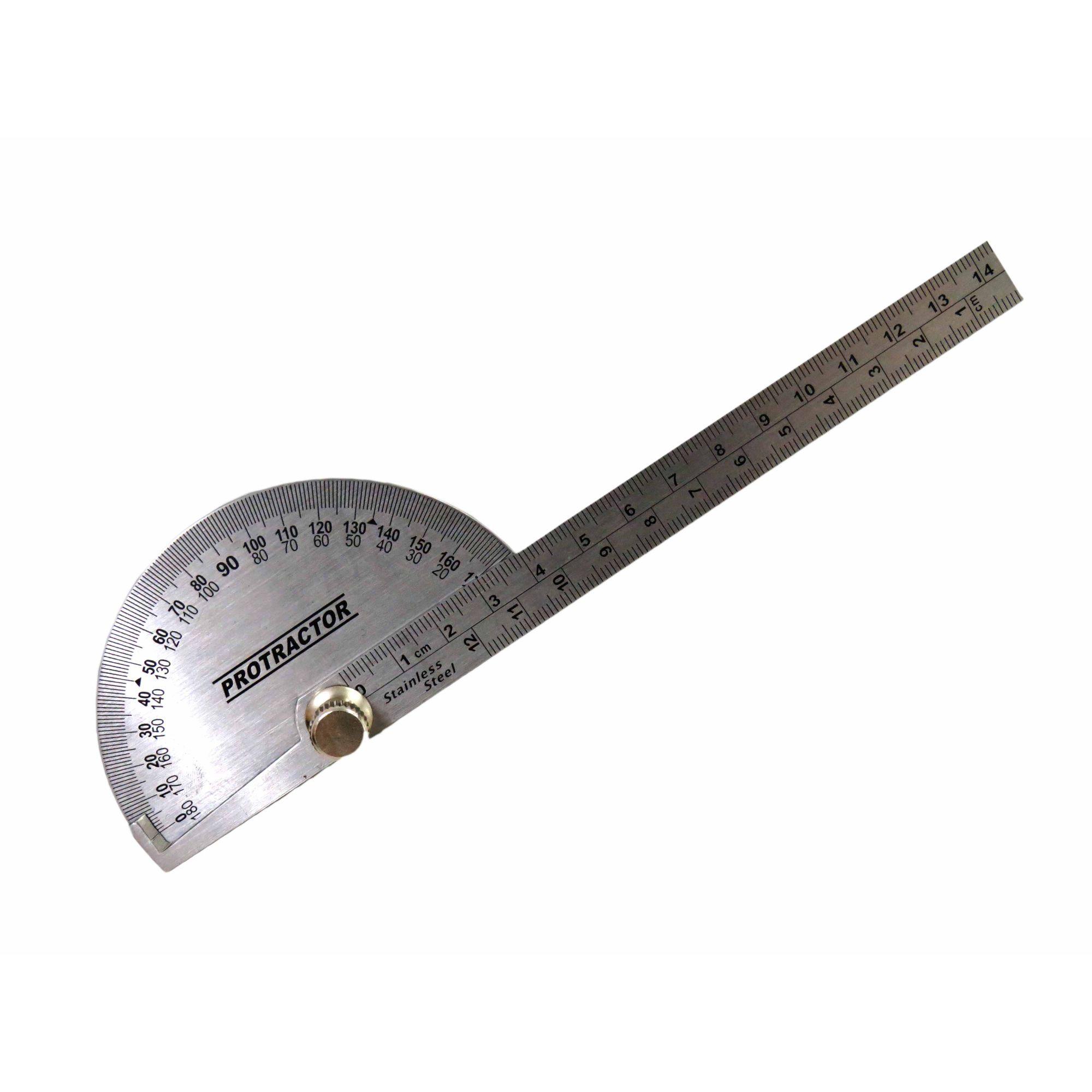 Transferidor De Grau 0-180° Com Régua Aço Inoxidavel Eda